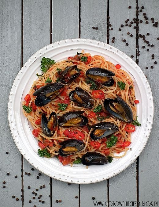 Spaghetti z małżami