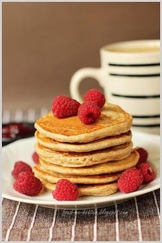 Lekkie placuszki pancakes na serku