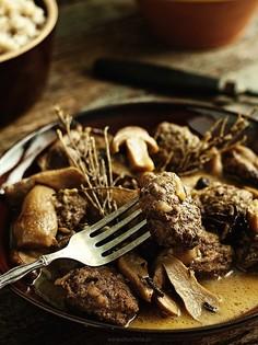 Klopsiki w sosie z leśnych grzybów
