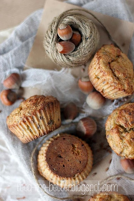 Zdrowe, pełnoziarniste muffiny bananowe