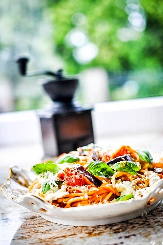 Spaghetti z bakłażanem i ricottą