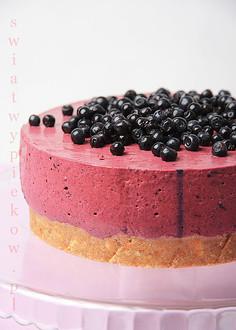 Ciasto jagodowe bez pieczenia