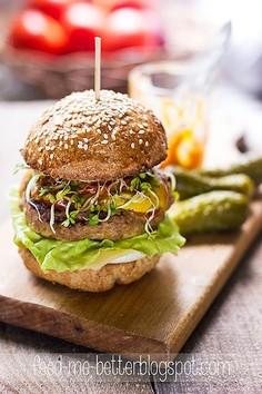 Odchudzone hamburgery z indyka