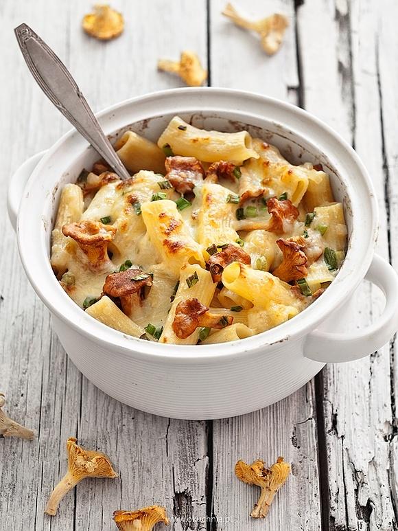 Mac and cheese z kurkami