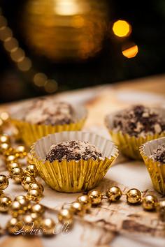 Trufle czekoladowe z migdałami