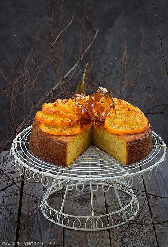 Hiszpańskie ciasto z gotowanych pomarańczy i migdałów