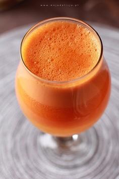 Koktajl marchewkowo-pomarańczowy - na katar i przeziębienie