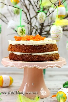 Ciasto marchewkowe z kremem twarożkowym