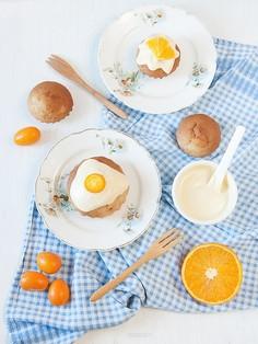 Pomarańczowe babeczki jogurtowe