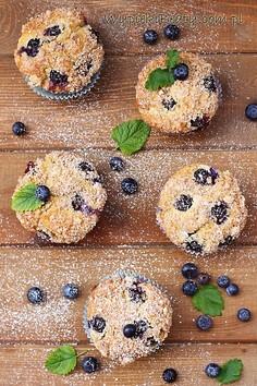 Muffiny twarogowe z borówkami
