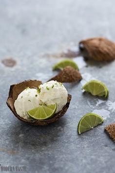 Lody kokosowo - limonkowe bez jajek