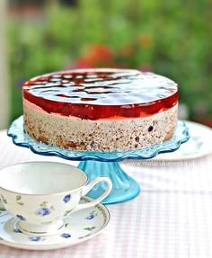 Ciasto z wiśniami na zimno