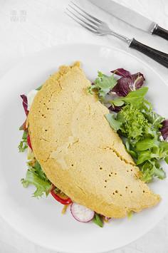 Wegański omlet z ciecierzycy