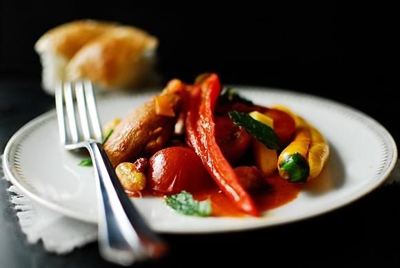 Marokańskie danie jednogarnkowe z kurczakiem