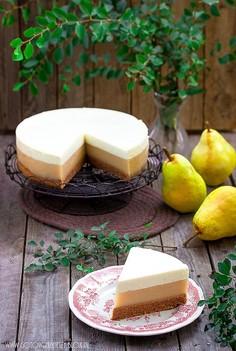 Ciasto cynamonowe z musem gruszkowo imbirowym