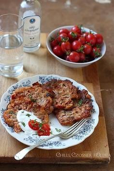 Placki z pomidorami z wyspy Santorini