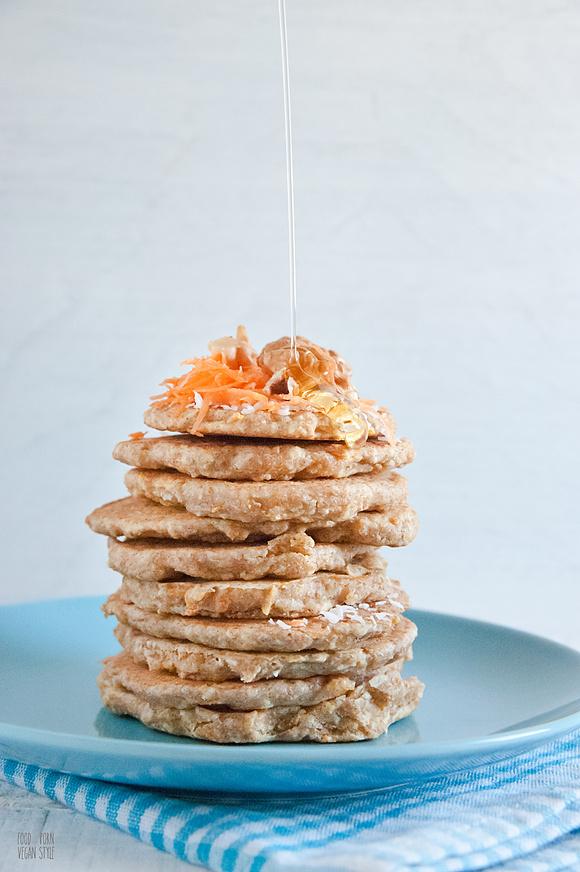 Kokosowo-marchewkowe pancakes