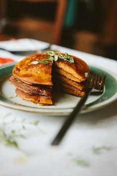 Pancakes dyniowe z mąki gryczanej