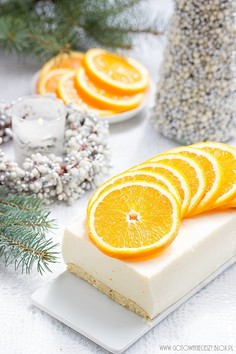 Pomarańczowy sernik na zimno