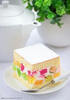 Tanie ciasto galaretkowiec