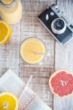 Koktajl pomarańczowo-grejpfrutowy