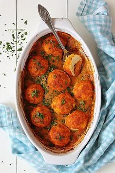 Zapiekana kofta serowa w sosie curry