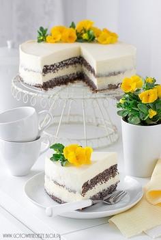 Tort makowo cytrynowy z lemon curd