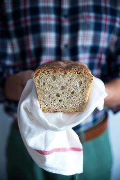 Domowy chleb na zakwasie, ze słonecznikiem