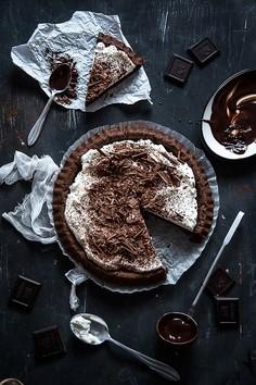 Bardzo czekoladowe ciasto z kremem