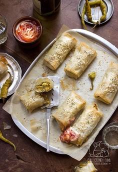 Marokańska pastilla w wersji wege - z cukinią, marchewką i kuskusem