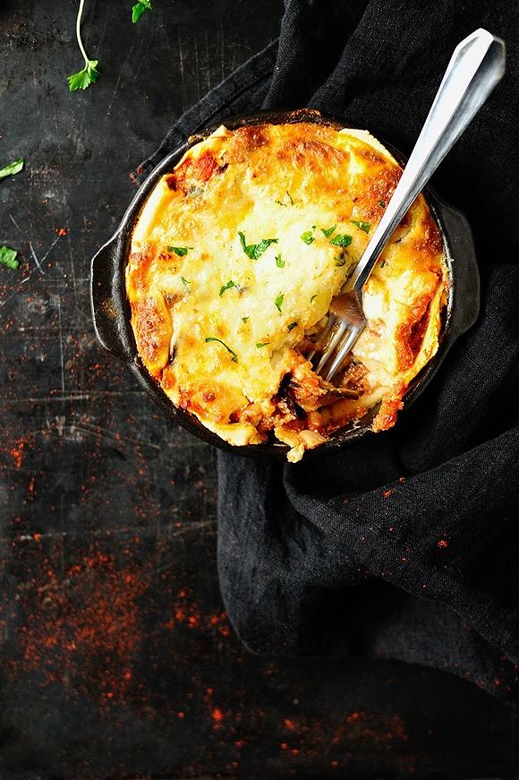 Lasagne z bakłażanem i trzema serami