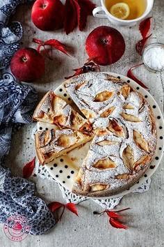 Kisielowe ciasto z jabłkami