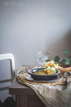 Warzywne curry z zielonej soczewicy