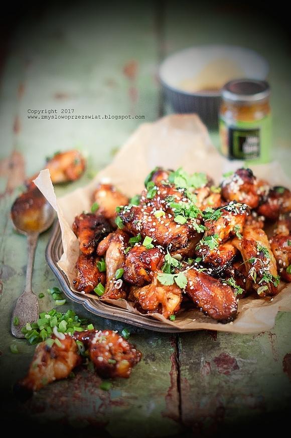 Słodko - pikantne tajskie skrzydełka z kurczaka