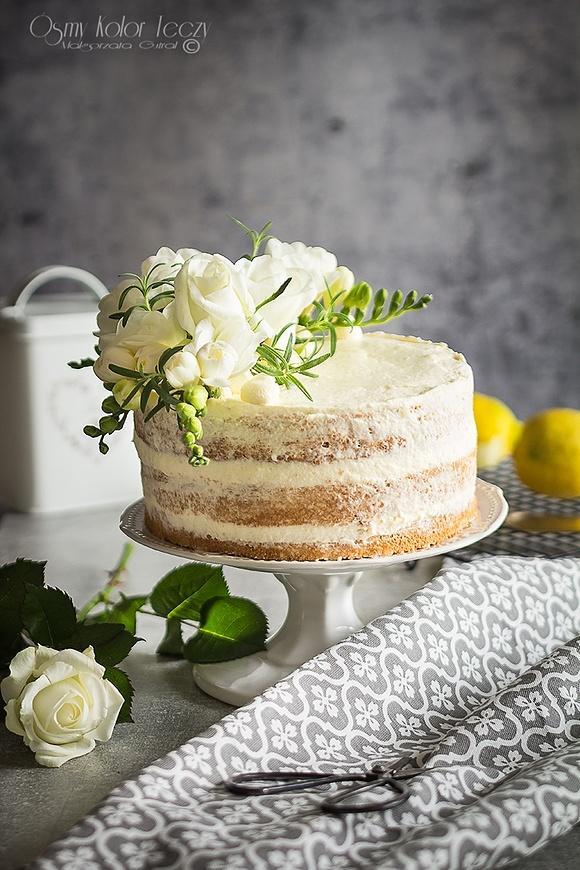 Tort cytrynowo – rozmarynowy