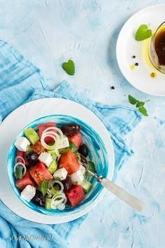 Sałatka z arbuzem i fetą