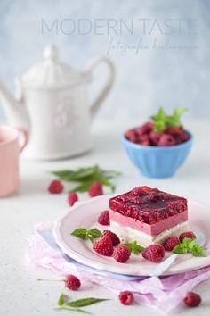Ciasto malinowe bez pieczenia