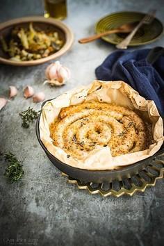 Biała kiełbasa pieczona z miodem i musztardą