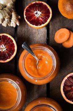 Imbirowa konfitura z marchwi i czerwonych pomarańczy
