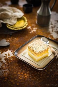 Ciasto z kremem cytrynowym i kokosem