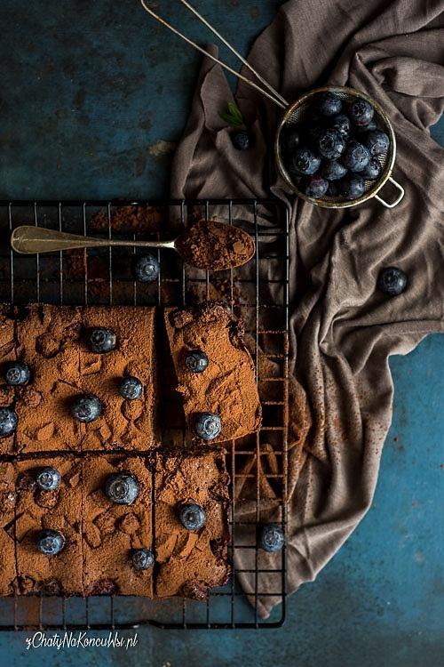 Brownie z borówkami