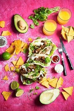 Meksykańskie tacos z wieprzowiną na ostro