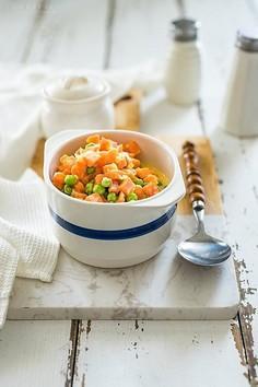 Klasyczna marchewka z groszkiem do obiadu