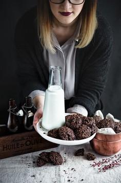 Kakaowe ciasteczka owsiane z żurawiną (bez cukru)