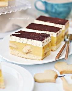 Mega ciasto bananowe ze śmietanką